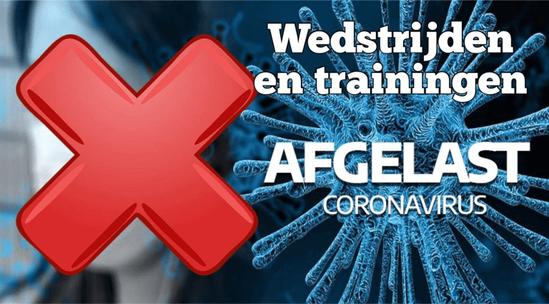 X PER DIRECT COMPETITIE EN TRAININGEN AFGELAST TOT 18 OKTOBER!